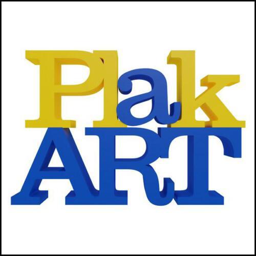 PlakART Logo weiss mit Rahmen
